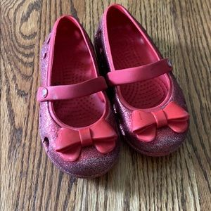 Toddle Crocs Keeley Sparkle Red Sz 9
